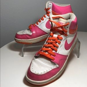 Womens NIKE Court Force PINK High Top Sneakers 9